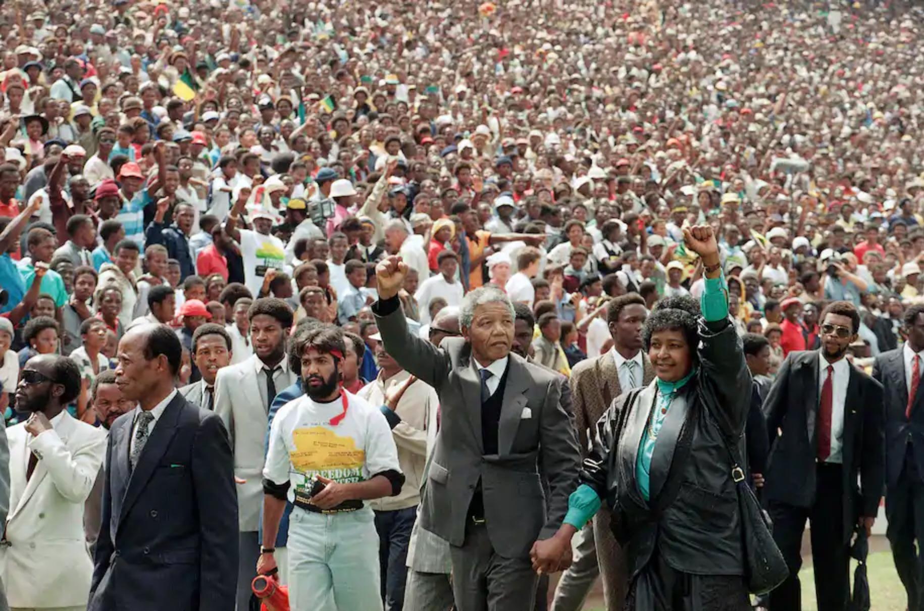 End of apartheid (AP Photo/Udo Weitz, File)